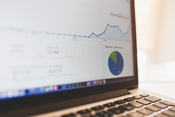image of google analytics on a laptop