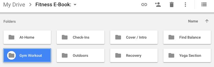 image of Rachel's organization tactics in Google Drive