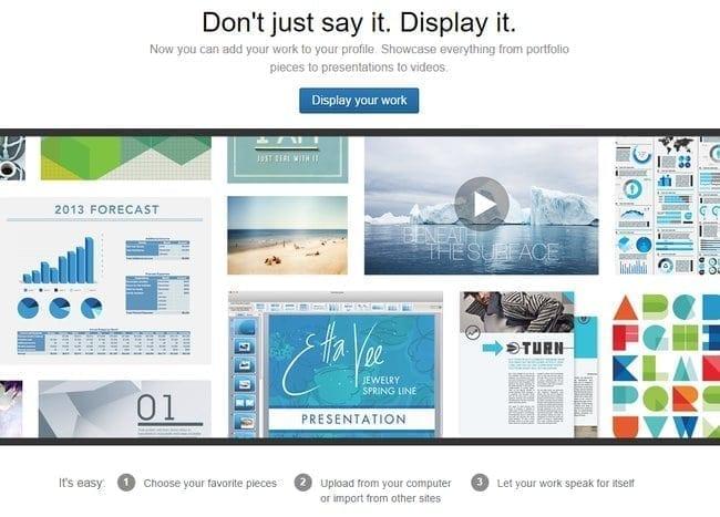 image of professional portfolio on linkedin