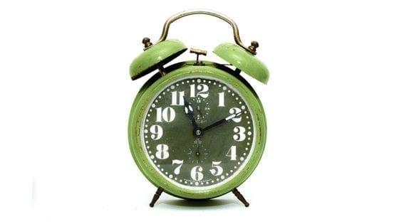 image of an old-school alarm clock