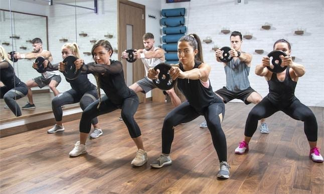 image of people getting fit in a fitness studio