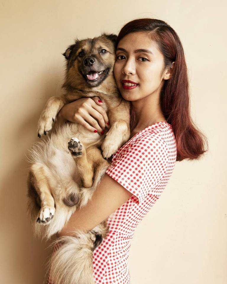 an image of Julia and one of her dogs