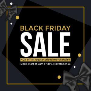 Black Friday sale bow