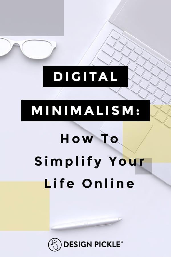 Digital Minimalism on Pinterest