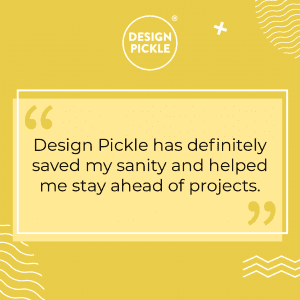 quote from Josh Anderson of PFSBrands saying how Design Pickle has saved his sanity