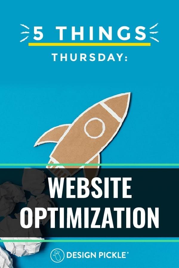 website optimization on pinterest