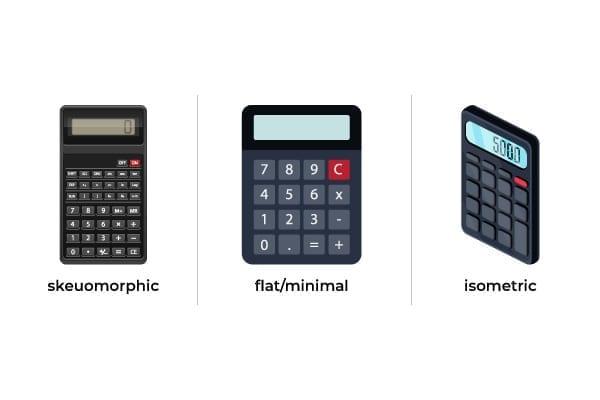 Isometric versus skeuomorphic design