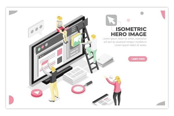isometric hero image