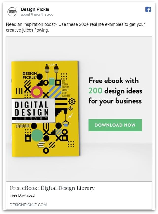 Design Pickle Facebook ad