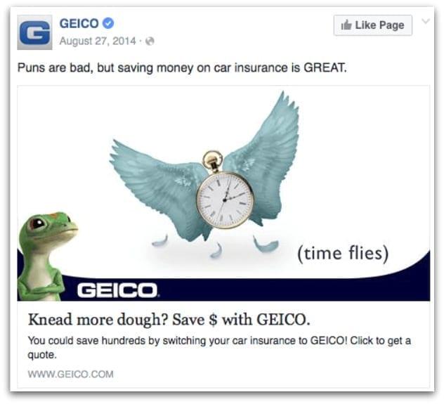 GEICO Insurance Facebook ad