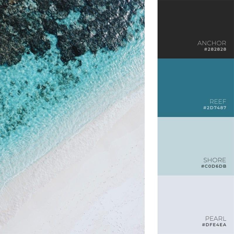 beach summer color palette inspiration