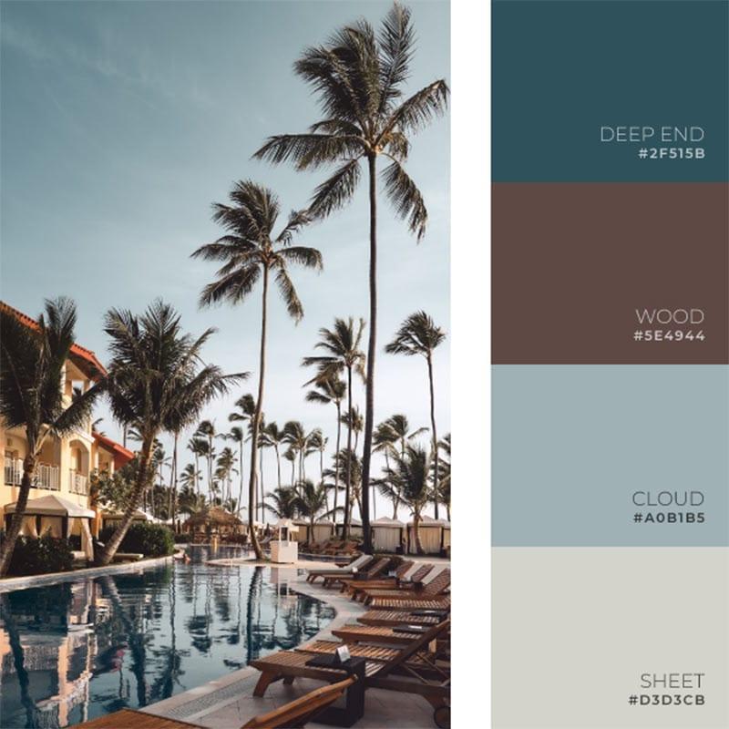 warm summer color palette inspiration