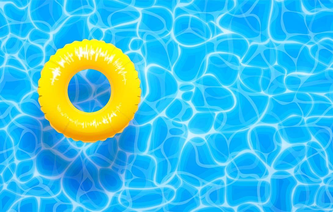 Yellow Pool Float