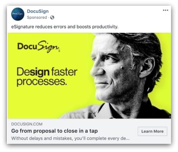 DocuSign Facebook ad