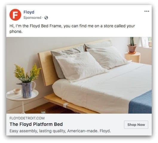 Floyd Facebook ad
