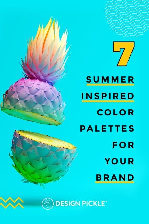 7 Summer Inspired Color Palettes on Pinterest