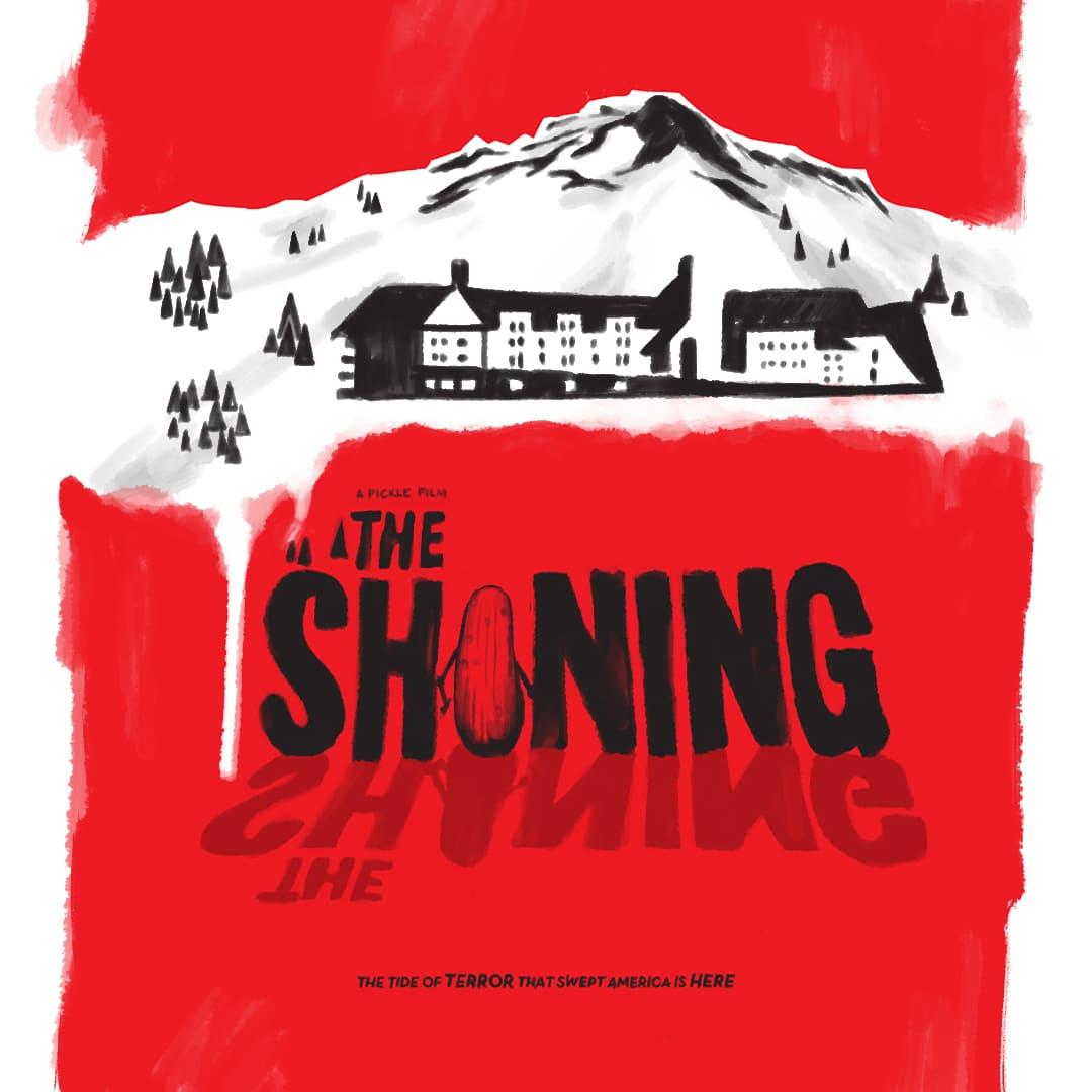 The Shining movie poster using Custom Illustrations