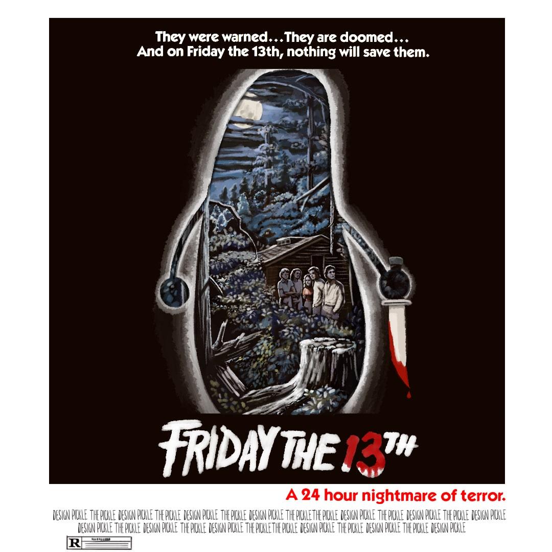 Friday the 13th movie poster using Custom Illustrations