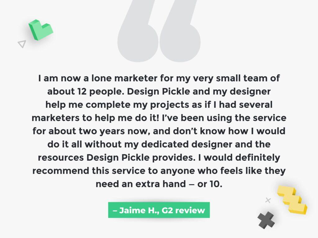 Happy Design Pickle Client Quote