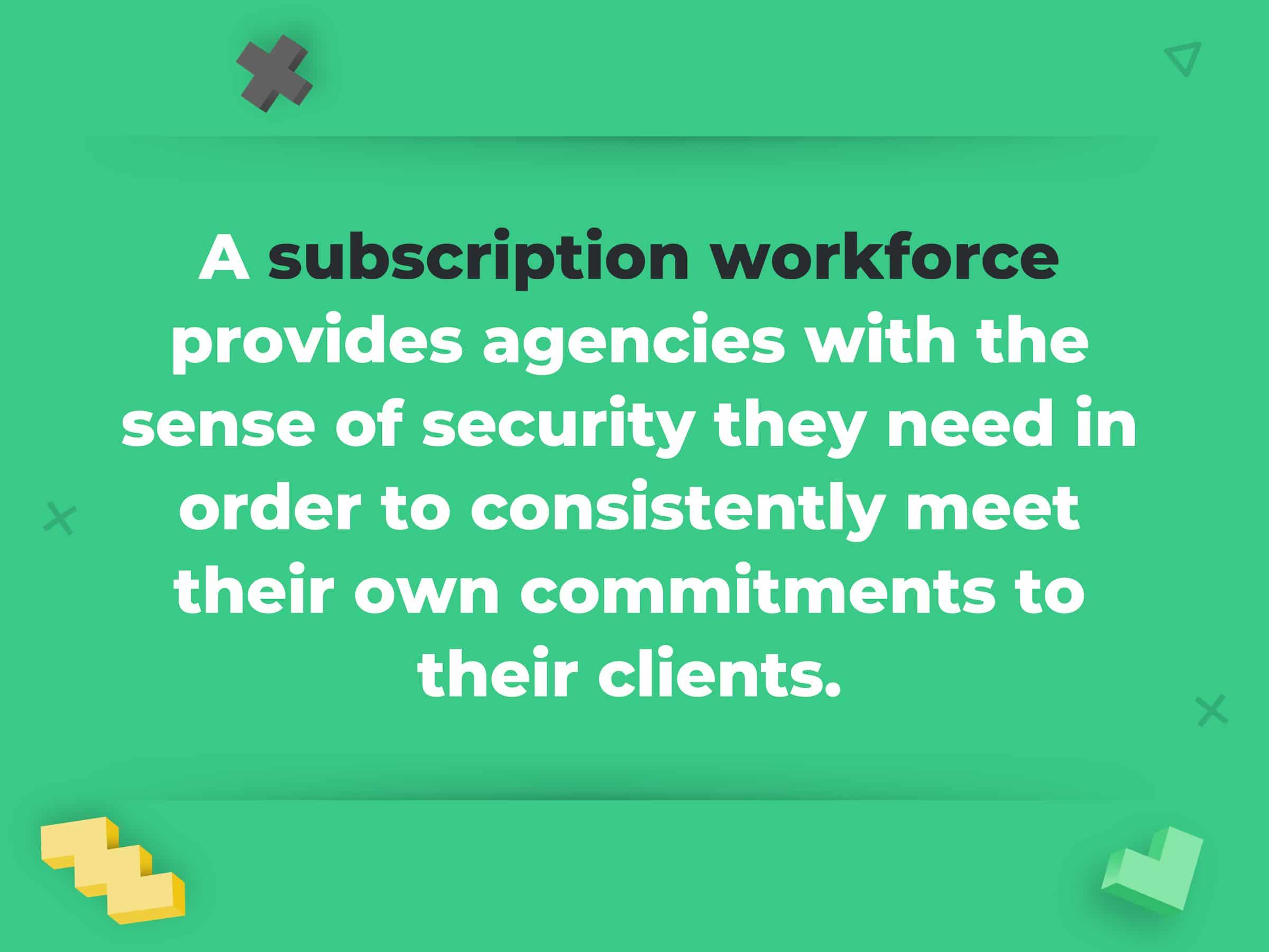 Design Pickle's Subscription Workforce