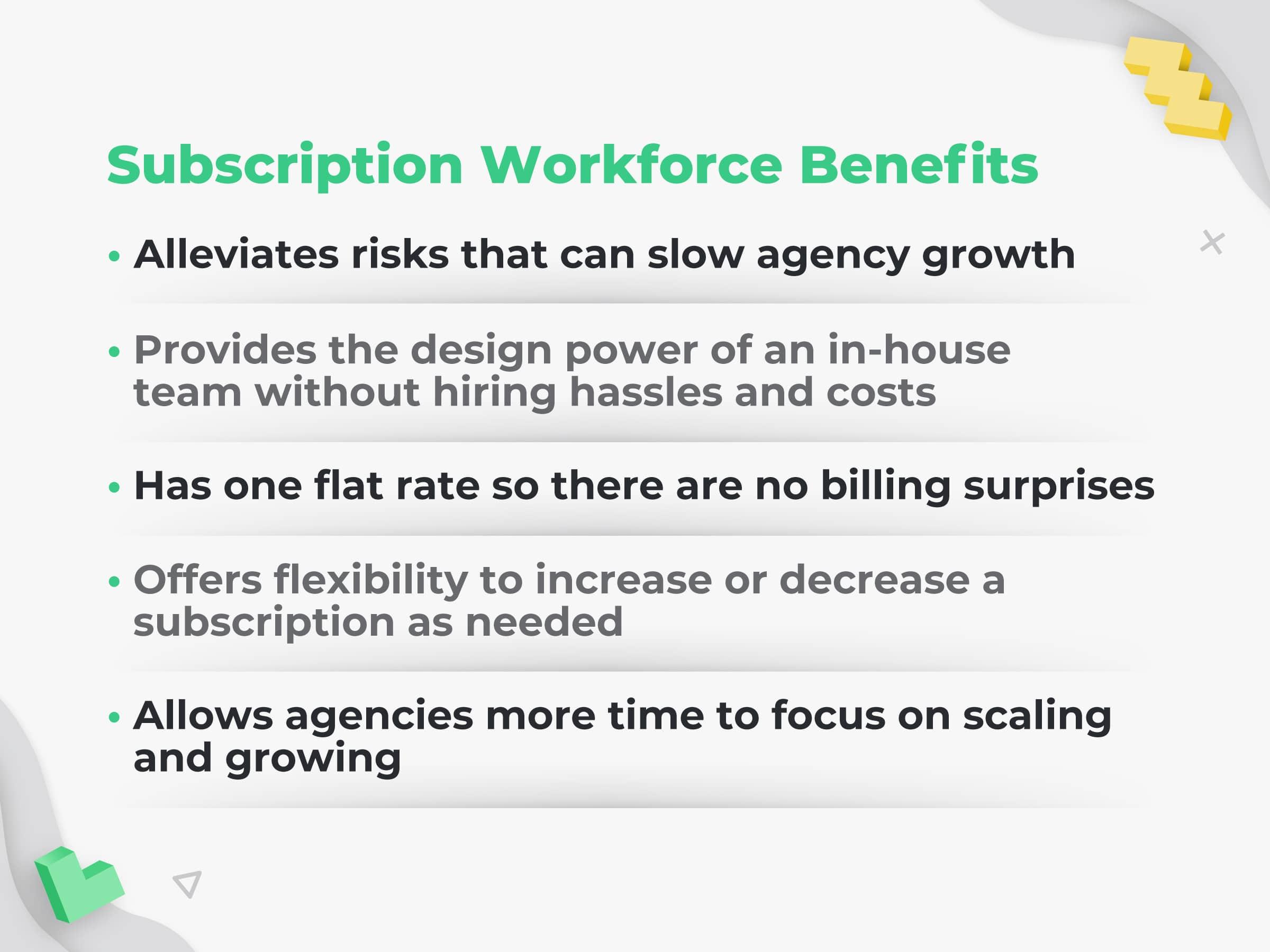 Subscription Workforce Benefits