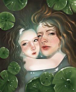 Water Fairy Custom Illustration Design