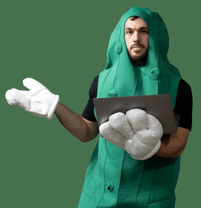 Design Pickle Suit Guy